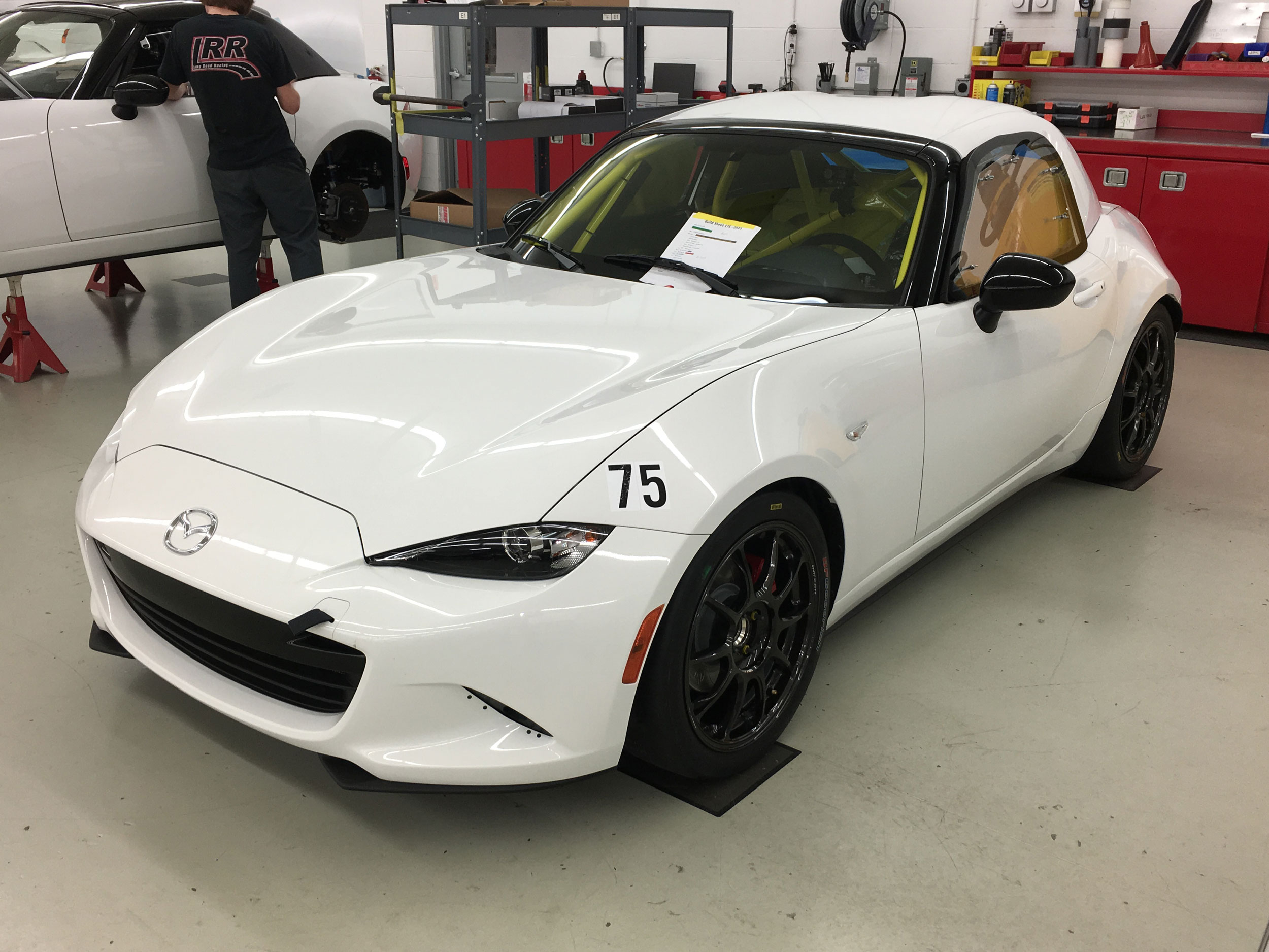 Mazda MX-5 Cup race car front 3/4