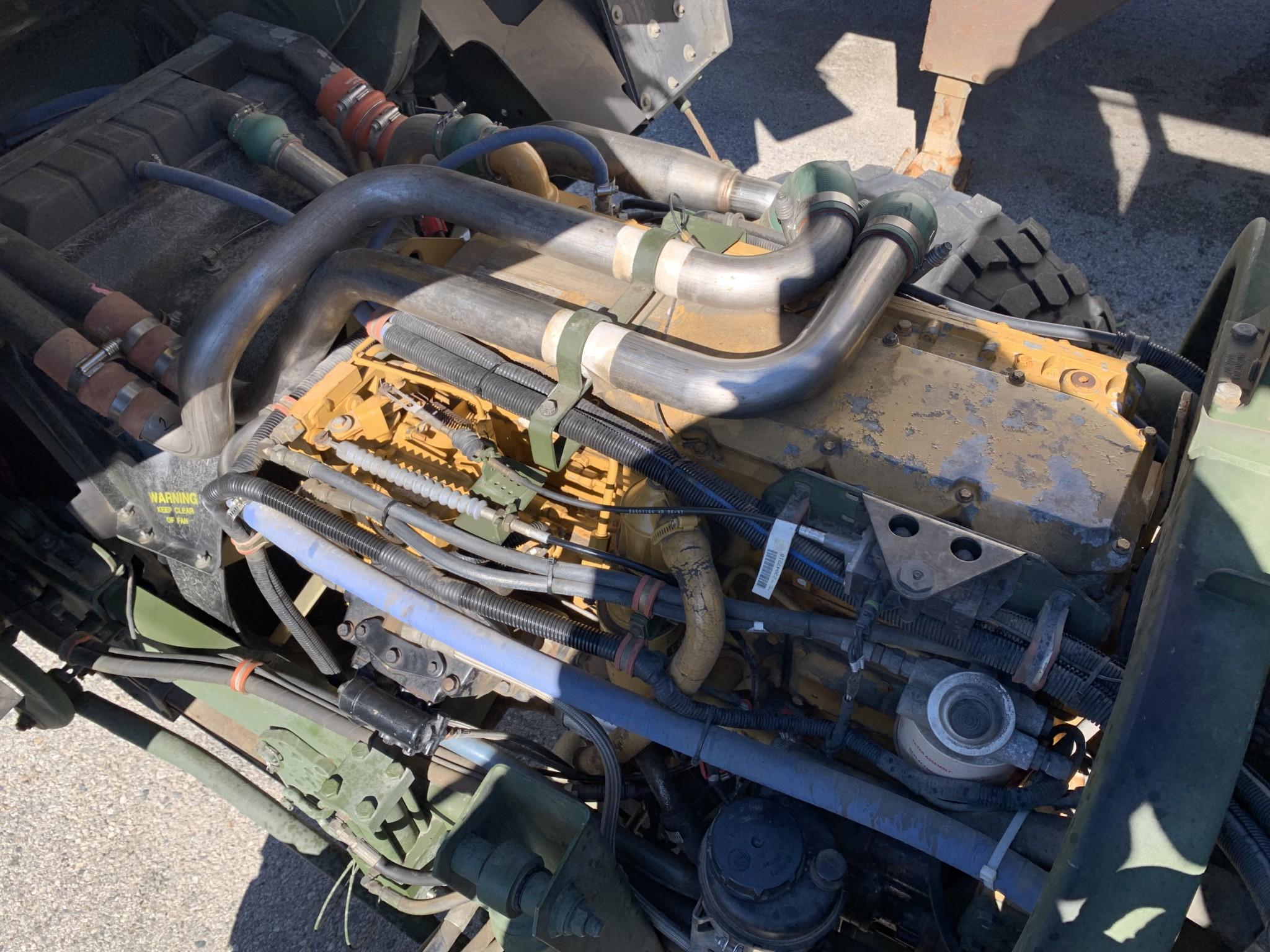 1998 Stewart & Stevenson LMTV M1078 engine overhead