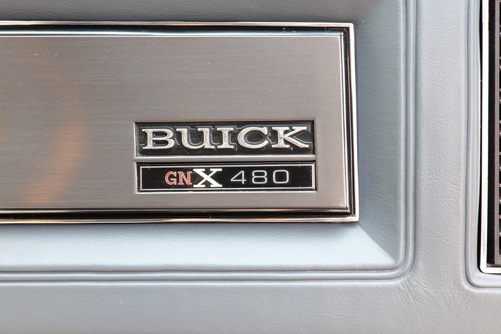 1987 Buick GNX dash badge