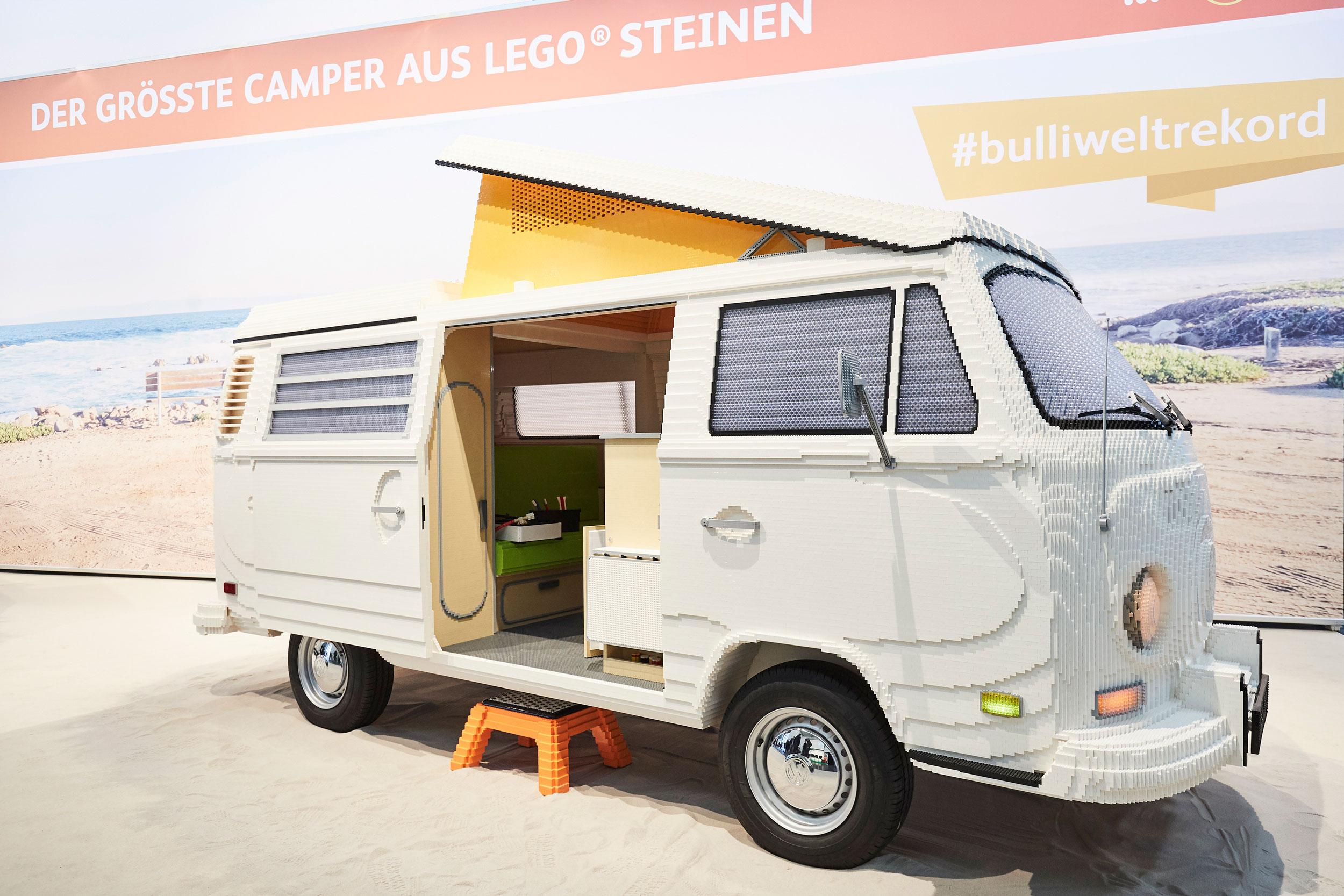 Volkswagen Type 2 created from 400,000 LEGO bricks
