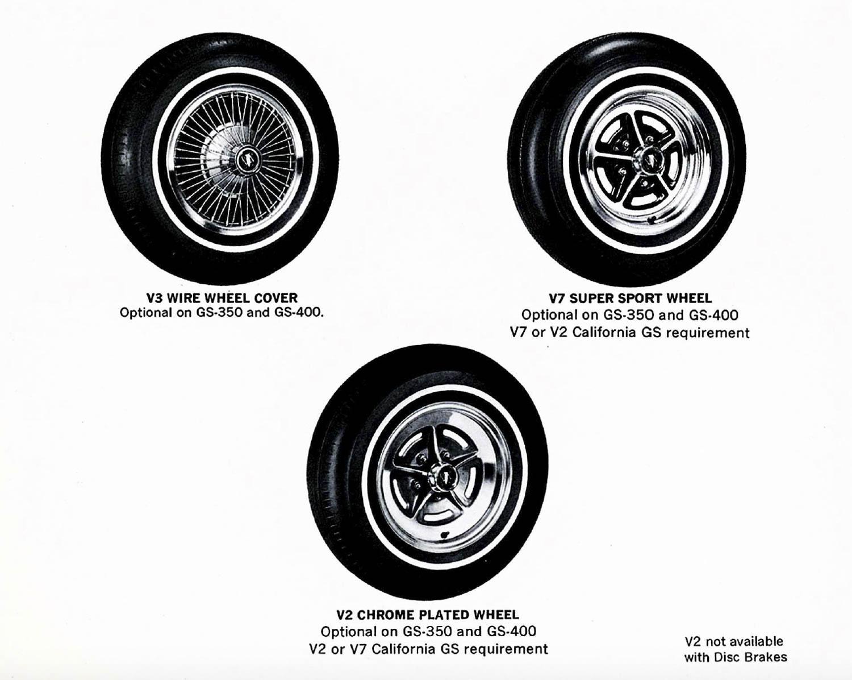 1969 Buick Dealer wheel options
