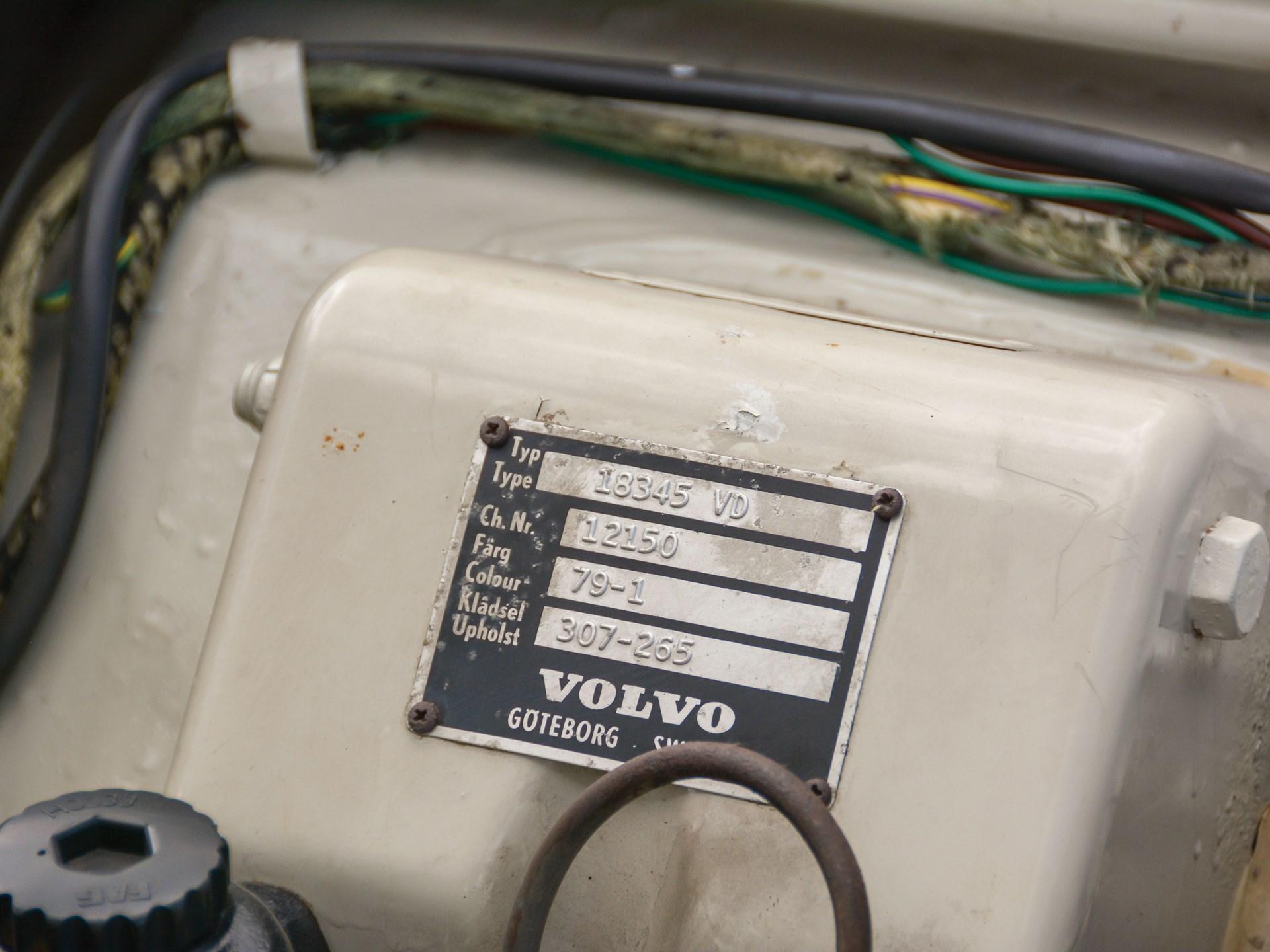 1965 Volvo 1800S vin tag
