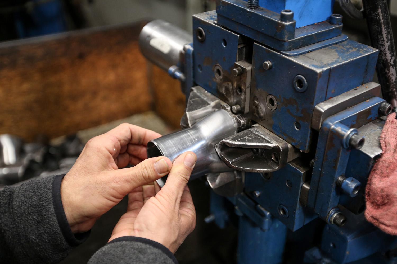 Hedman headers tube end press
