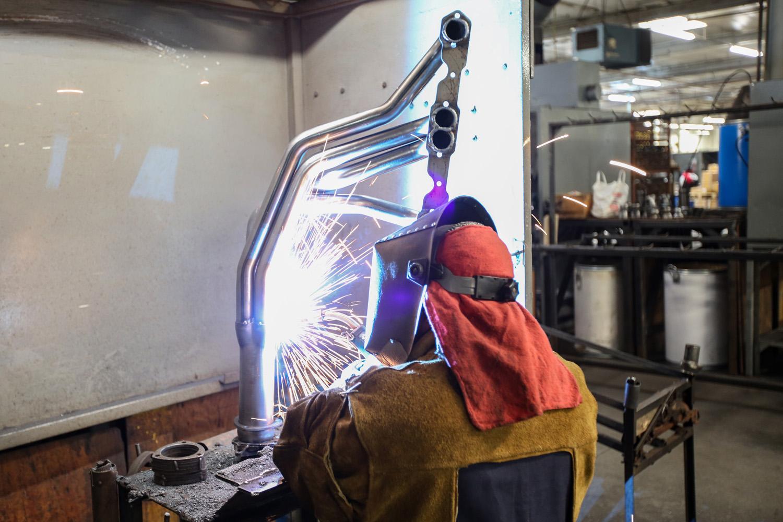 Hedman headers welding collector