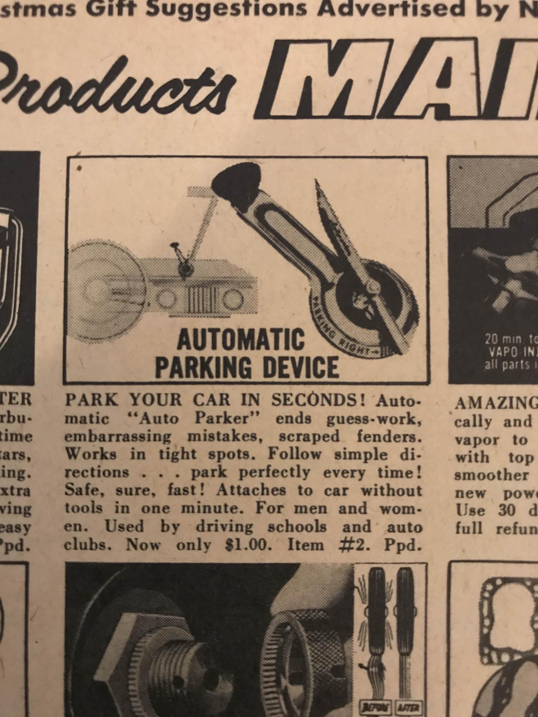 """Newhouse """"Auto Parker"""" (1952)"""
