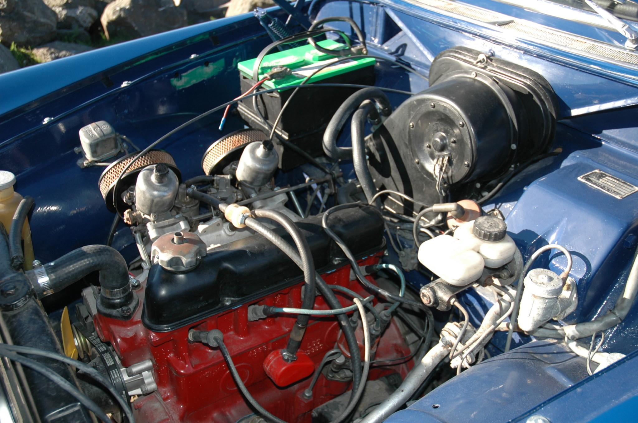 1967 Volvo 122S Wagon engine