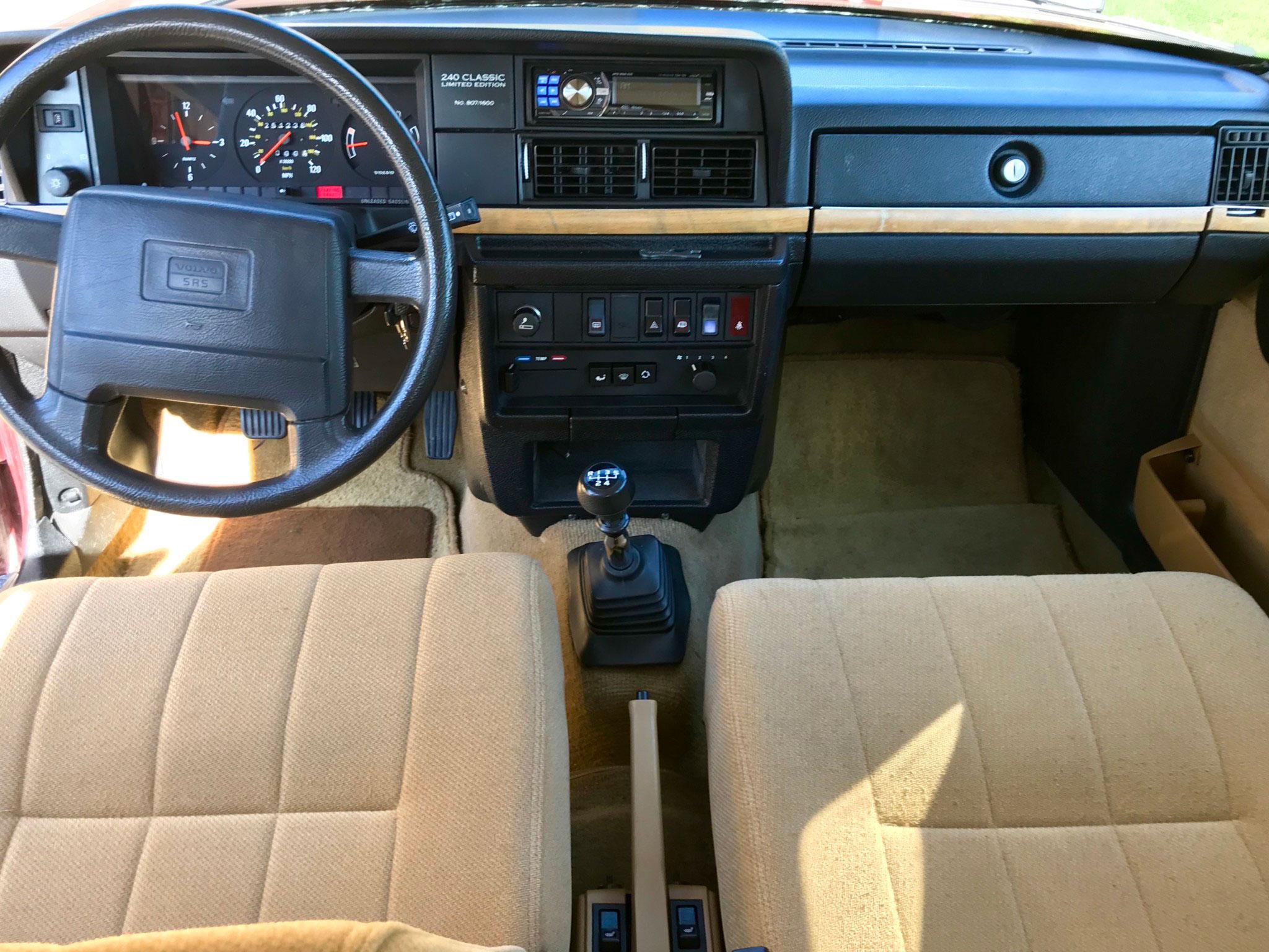 1993 Volvo 240 Classic LE Wagon interior