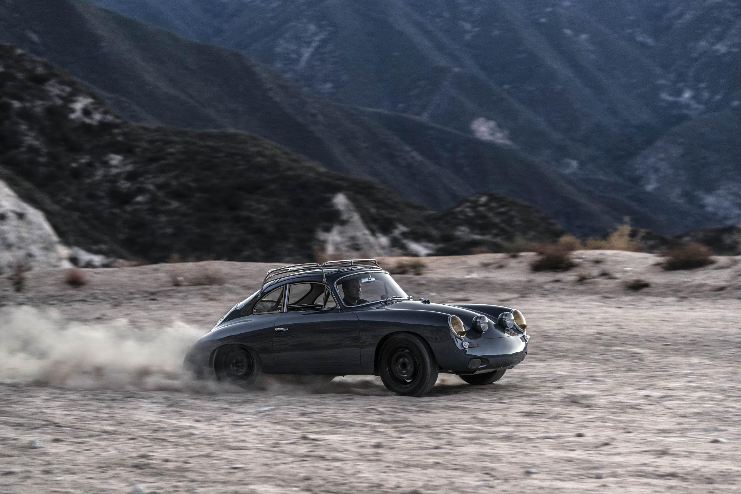 Emory Porsche 356 C4S Allrad driving in dirt