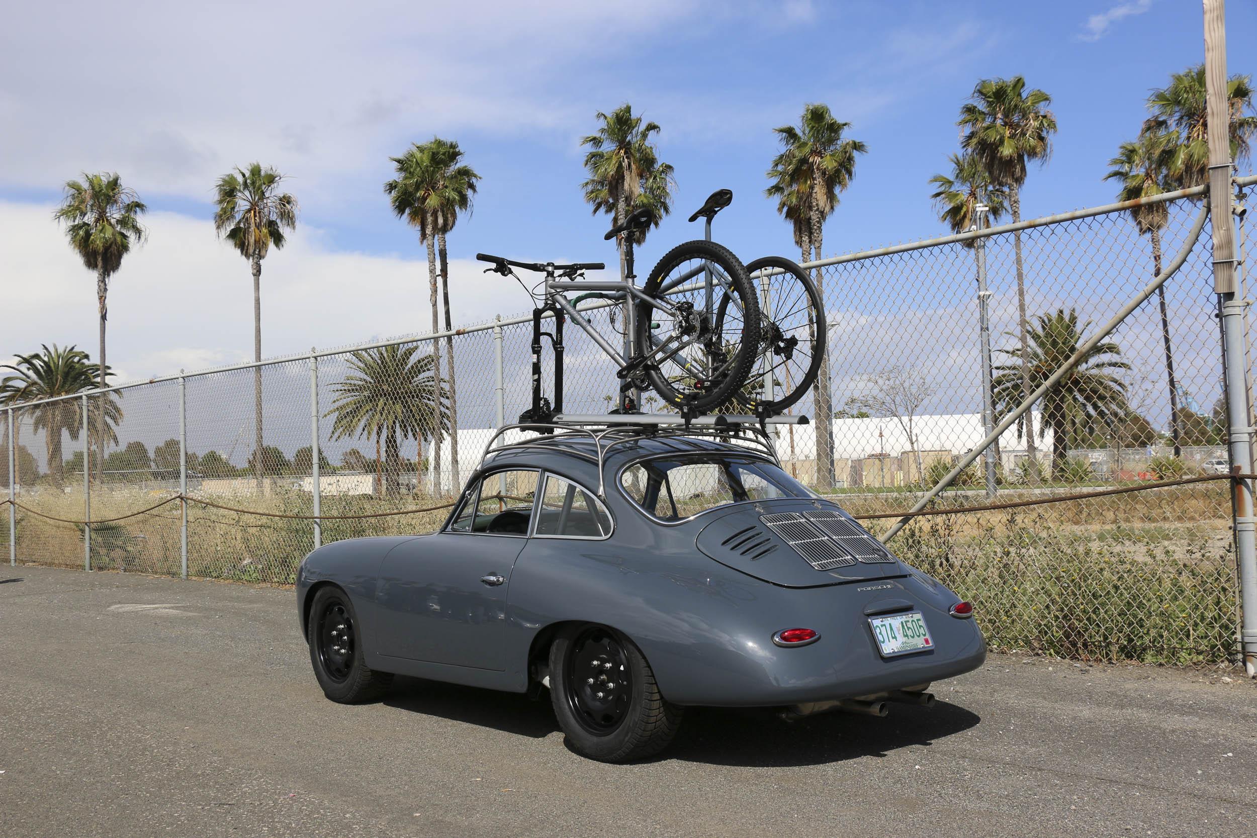 Emory Porsche 356 C4S Allrad bikes on roof