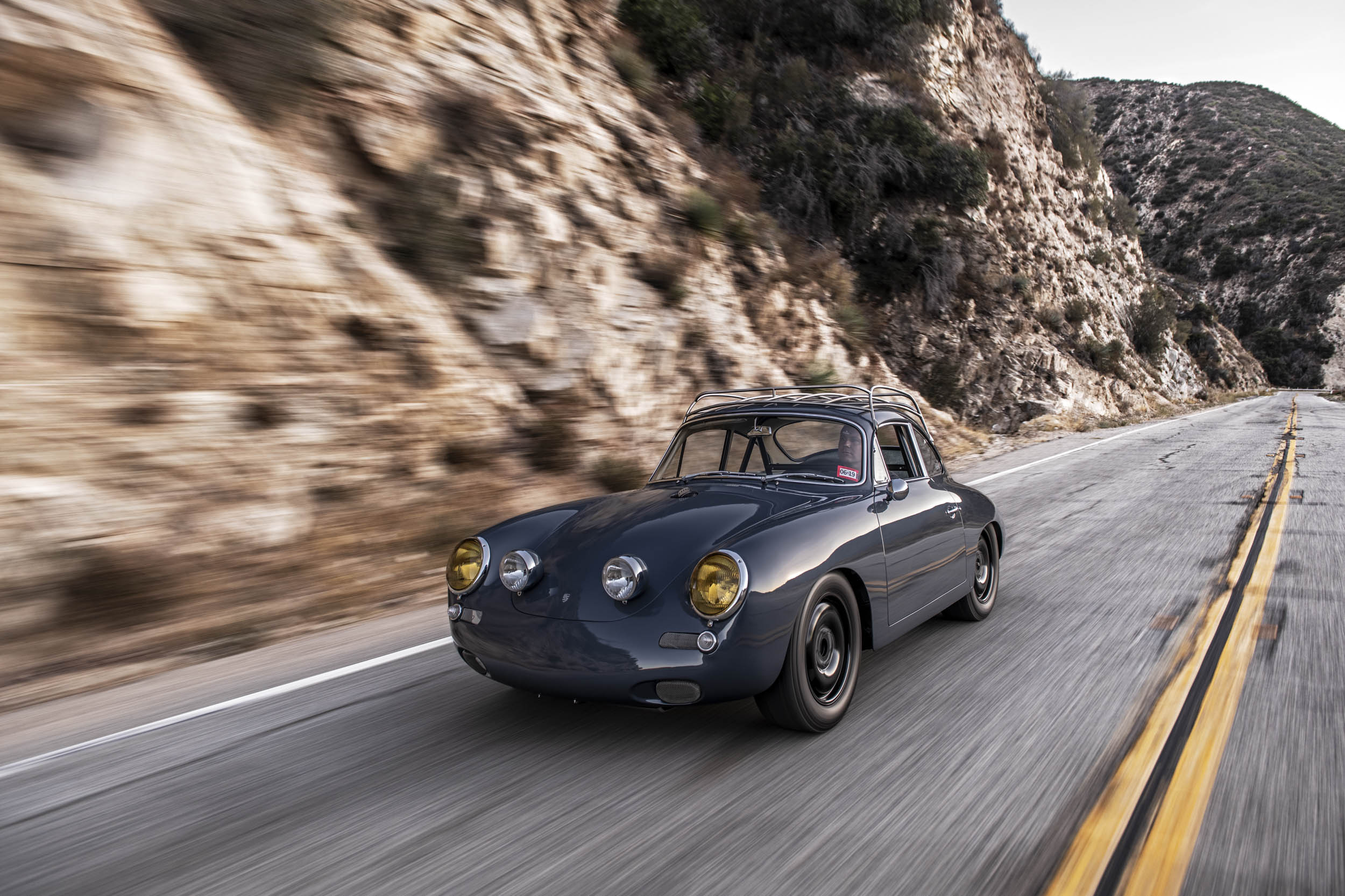 Emory Porsche 356 C4S Allrad driving on the highway