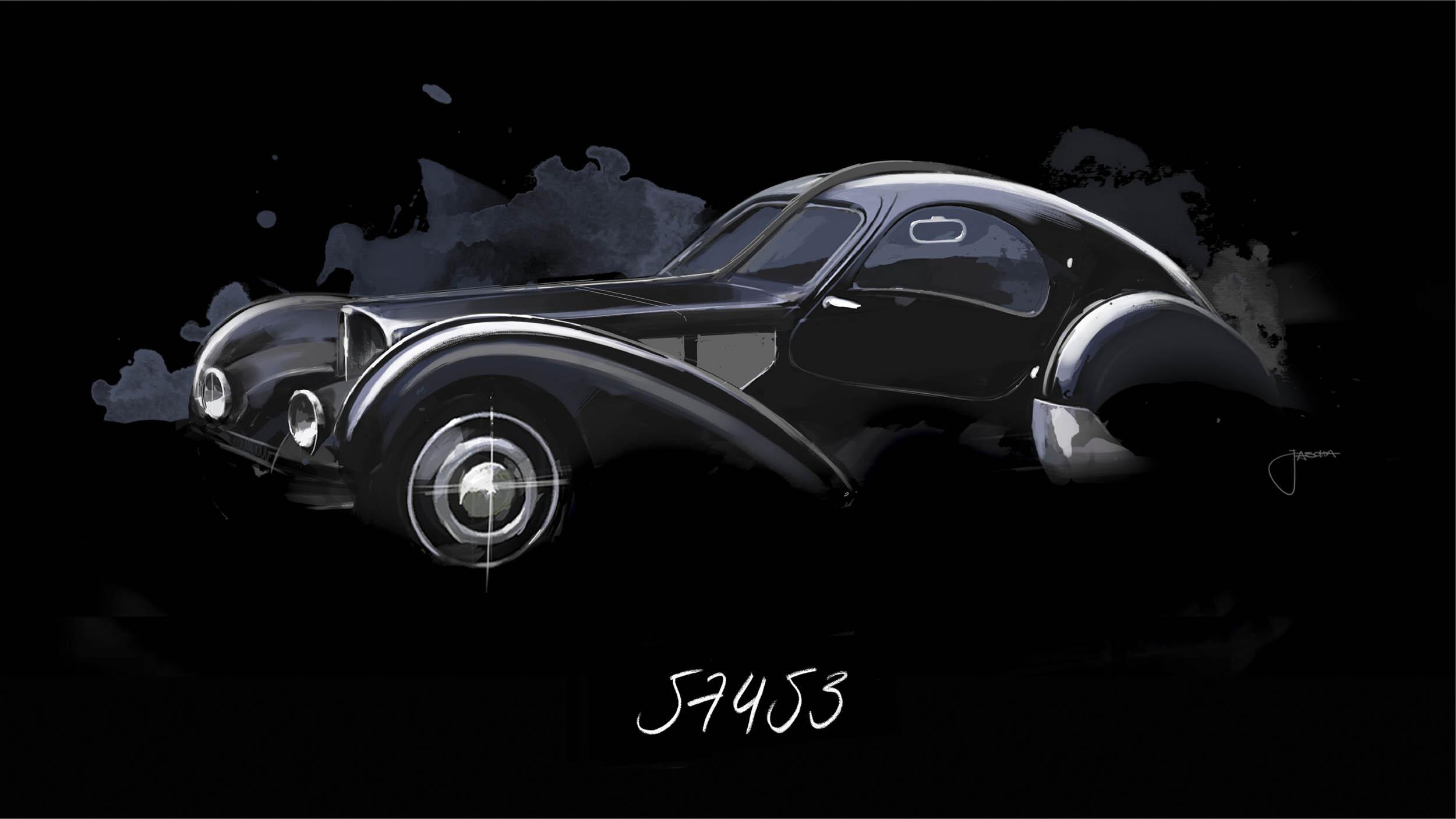 Bugatti Atlantic Chassis 57453, The Voiture Noire car