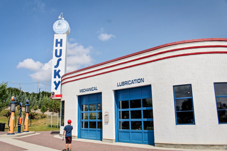 Gasoline Alley service station outside