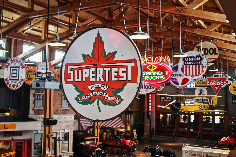 Gasoline Alley vintage supertest sign