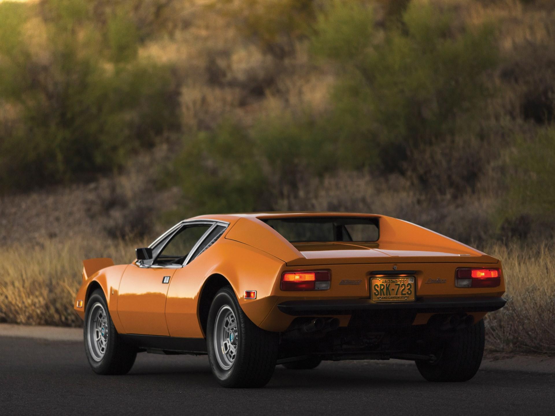 1973 De Tomaso Pantera 3/4 rear dark