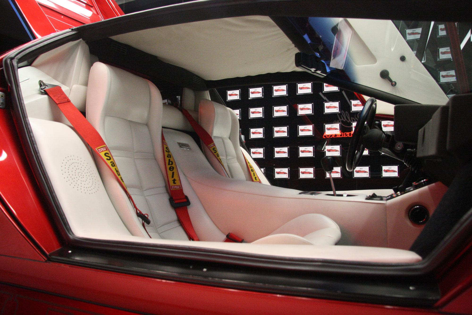 1980 Lamborghini Countach LP400 S Turbo interior