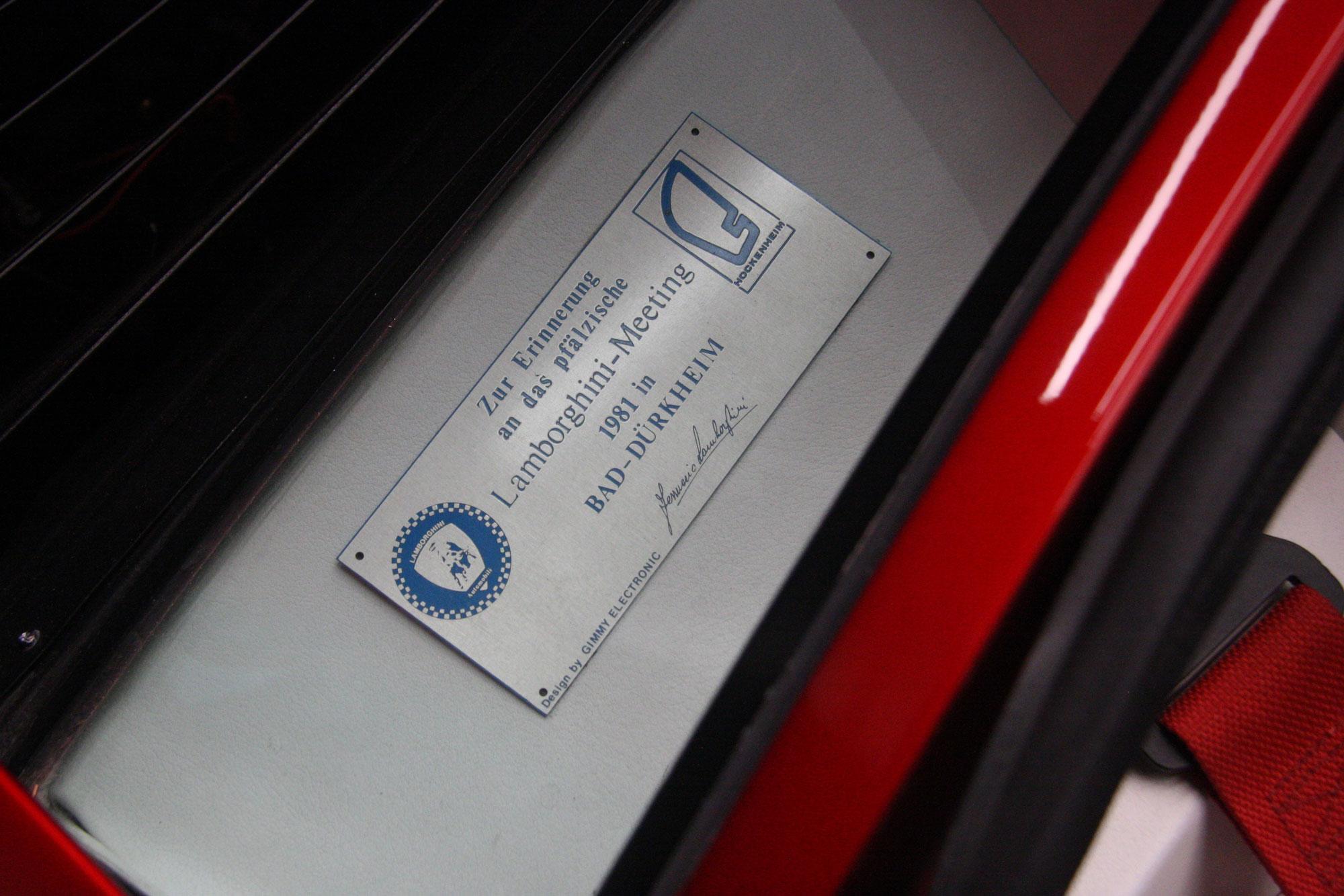 1980 Lamborghini Countach LP400 S Turbo plate