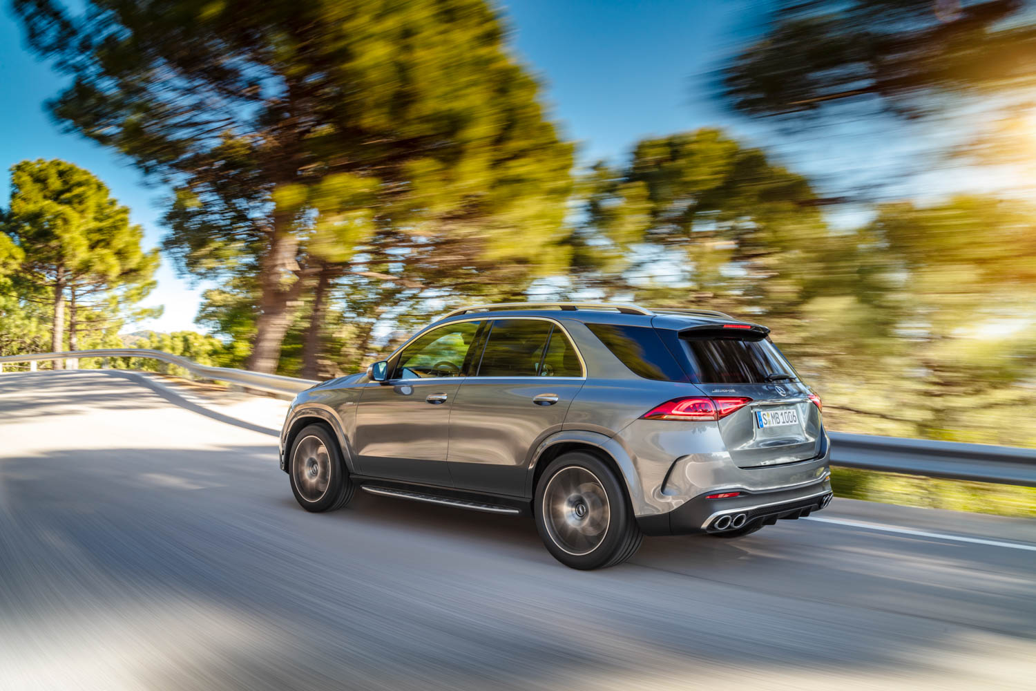 Mercedes-AMG GLE 53 driving rear 3/4