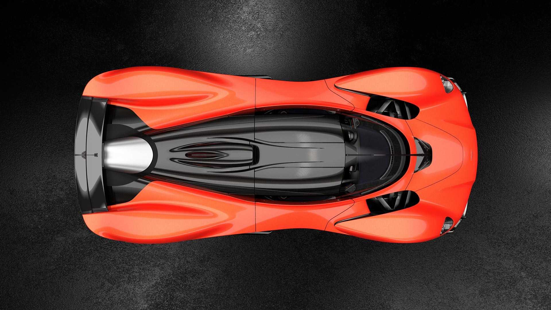 Aston Martin Valkyrie overhead