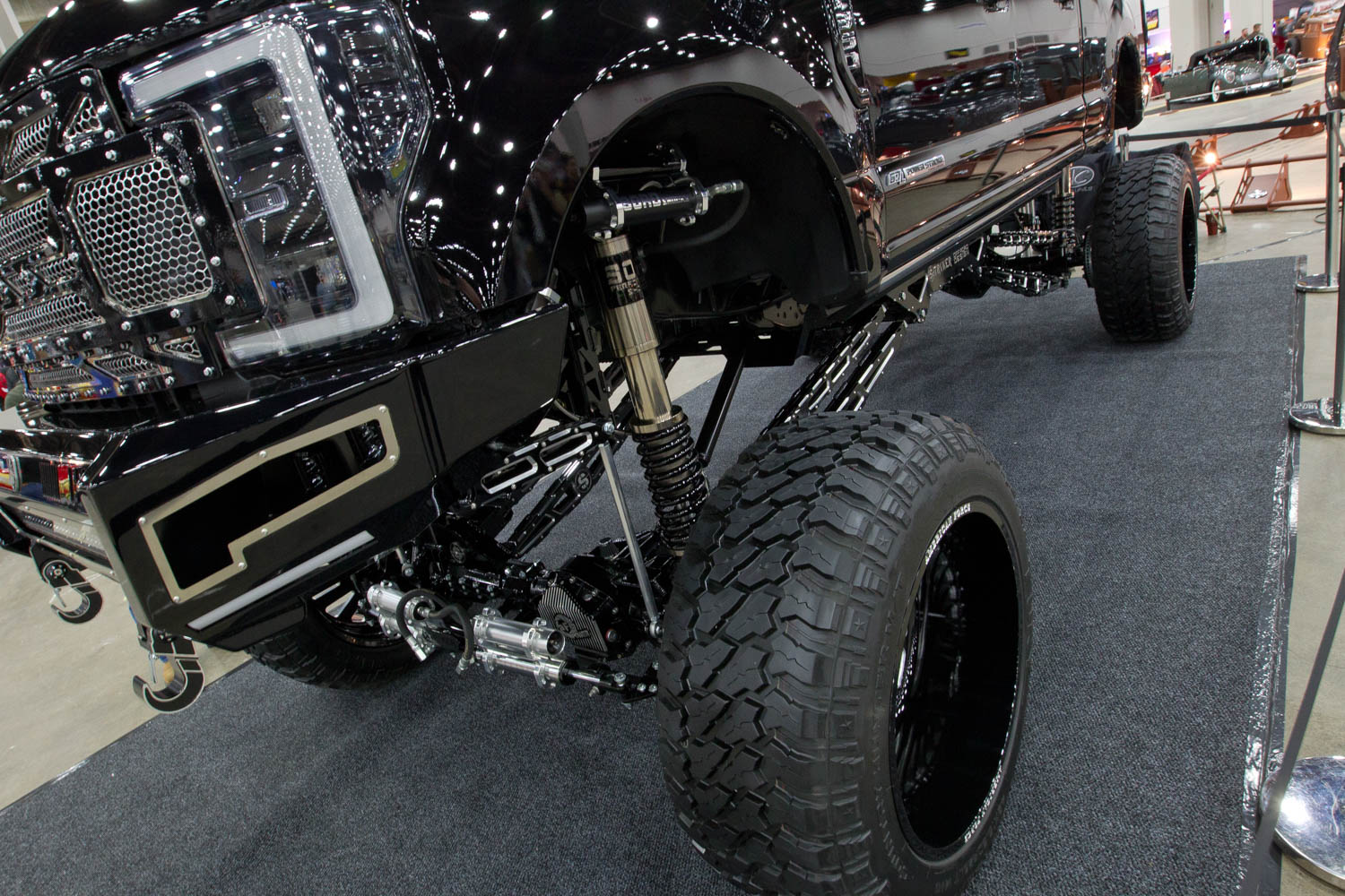lifted truck suspension at Autorama 2019