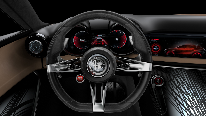 Alfa Romeo Tonale concept steerting wheel