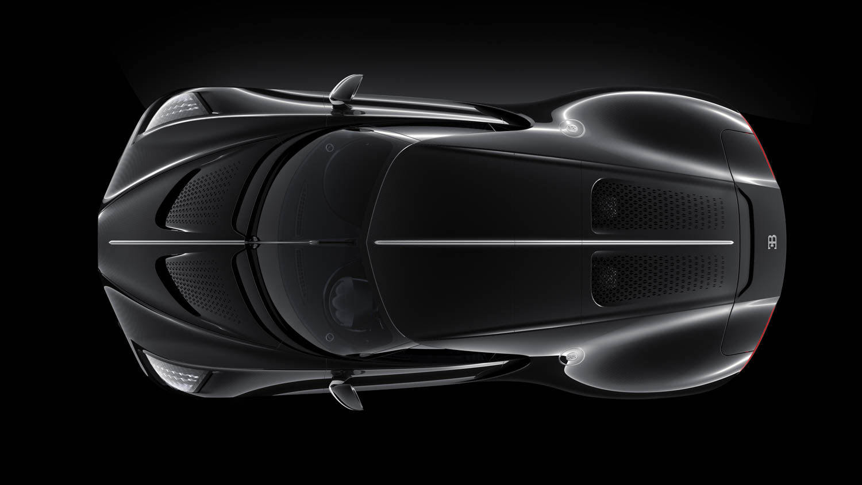 """Bugatti """"La Voiture Noire"""" overhead"""