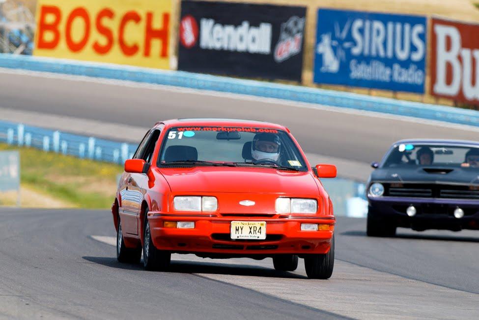 Paul West racing his Merkur at Watkins Glen