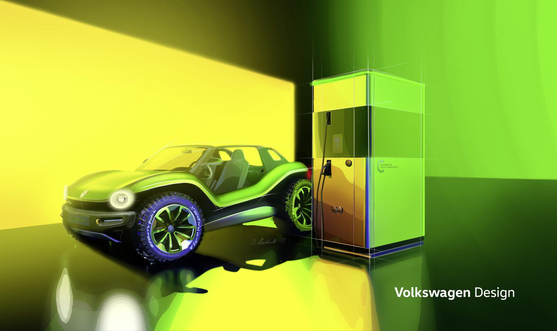 Volkswagen I.D. Buggy charging