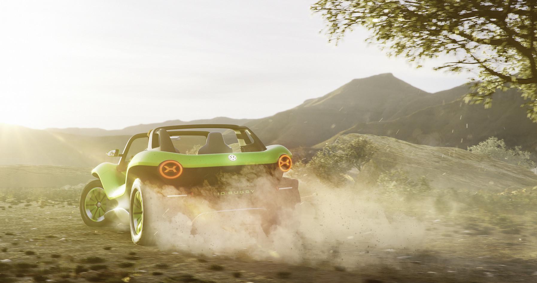 Volkswagen I.D. Buggy kicking up dirt