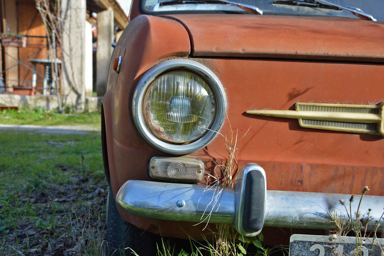 Fiat 850 headlight detail