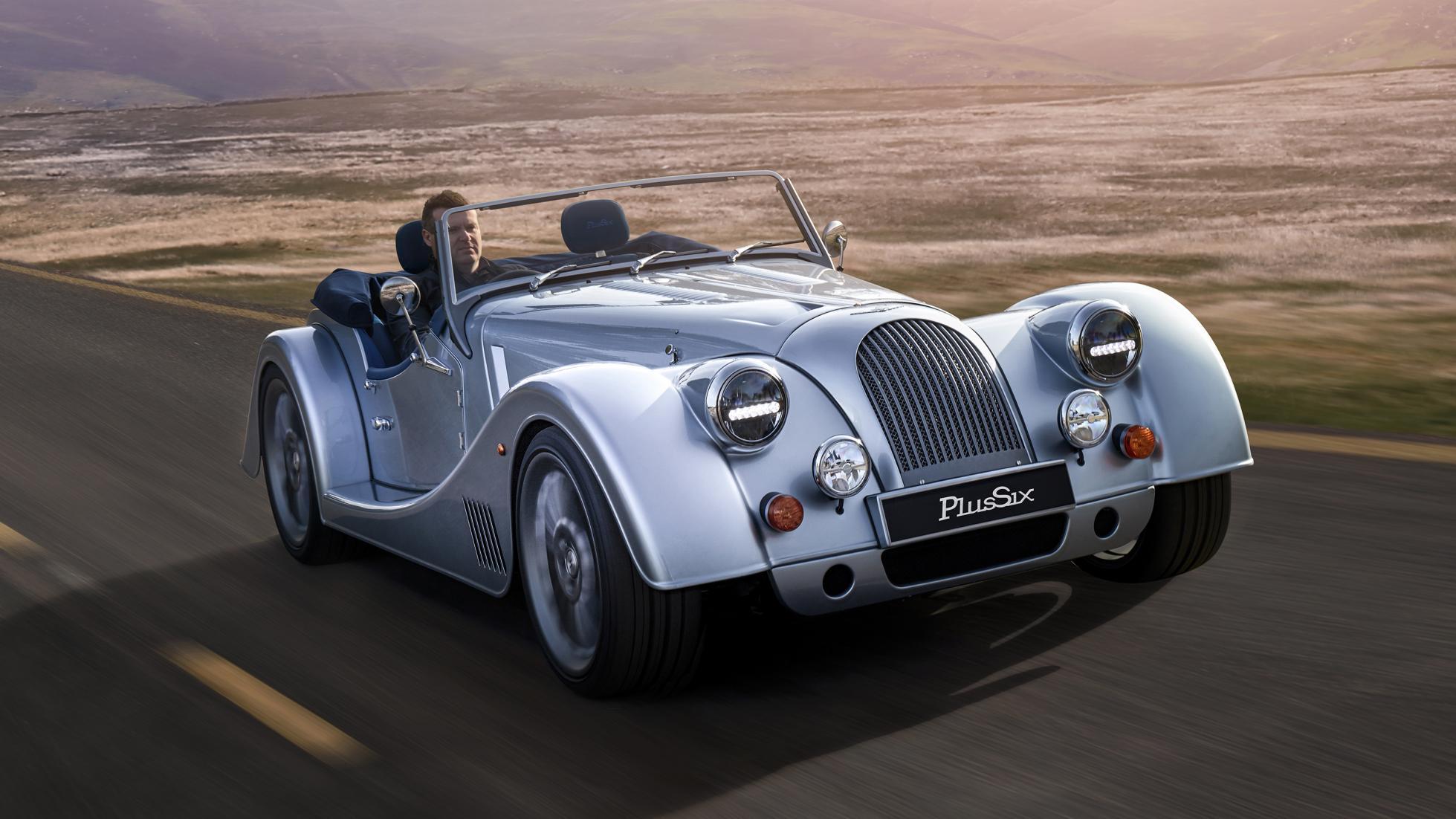 Morgan Plus Six driving