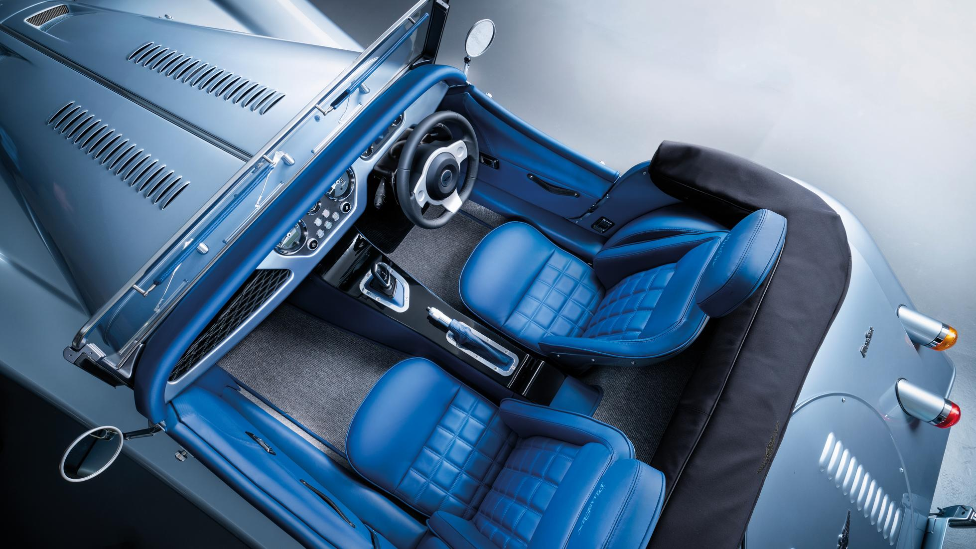Morgan Plus Six overhead interior