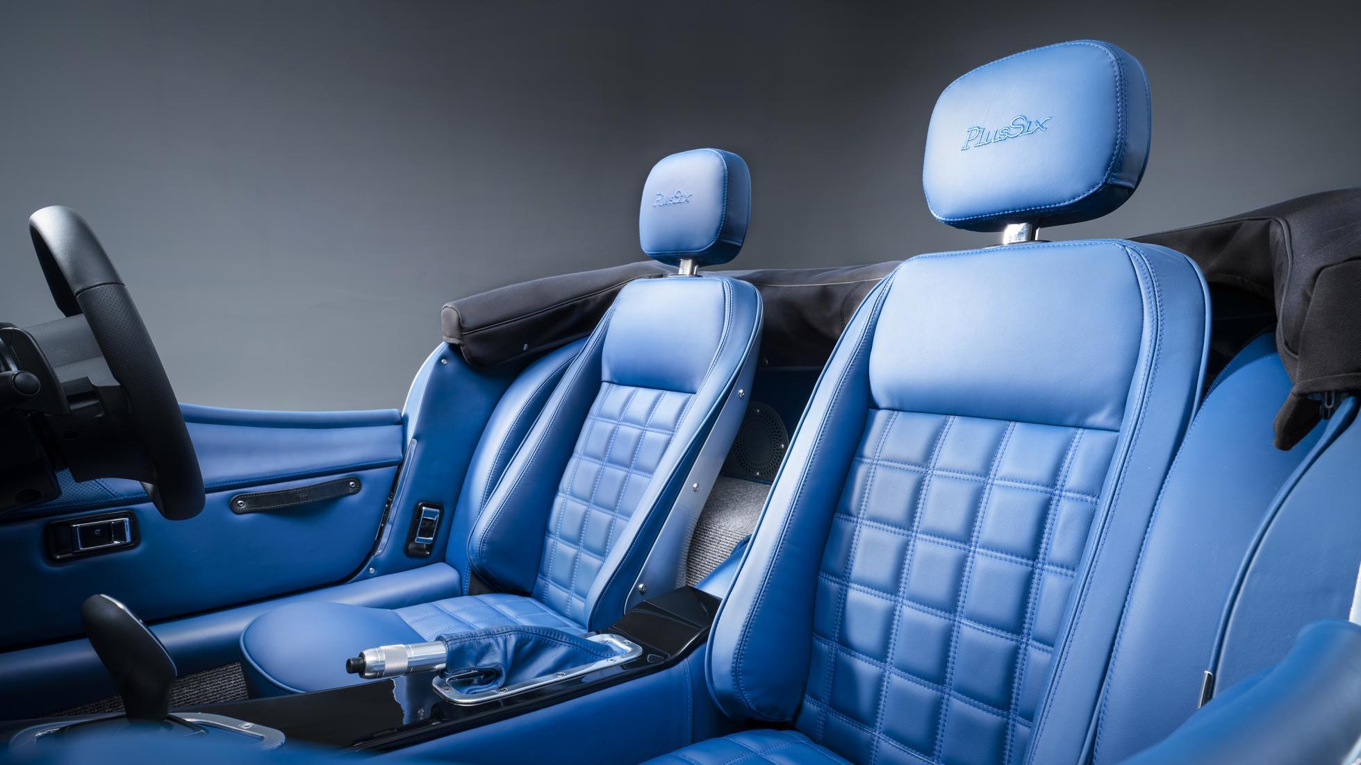 Morgan Plus Six seat detail