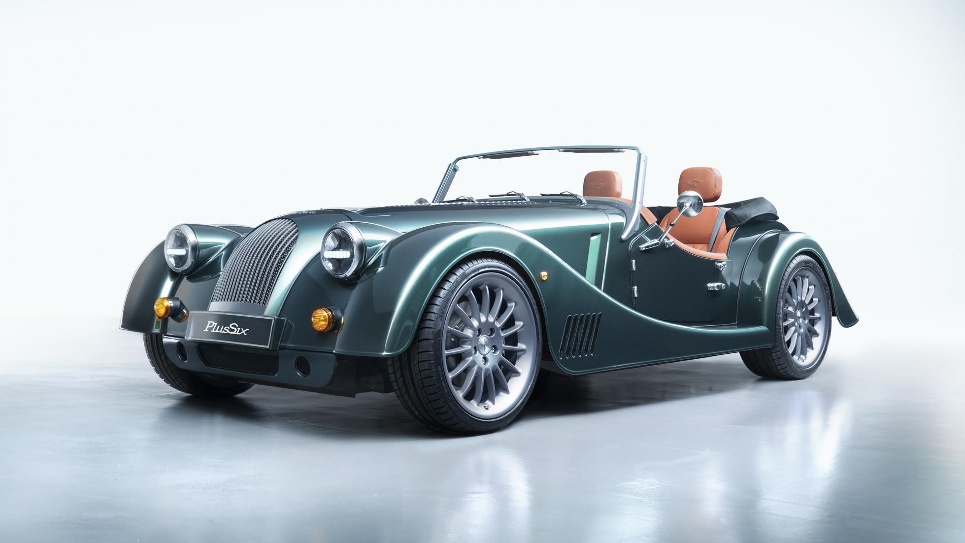 Morgan Plus Six front 3/4