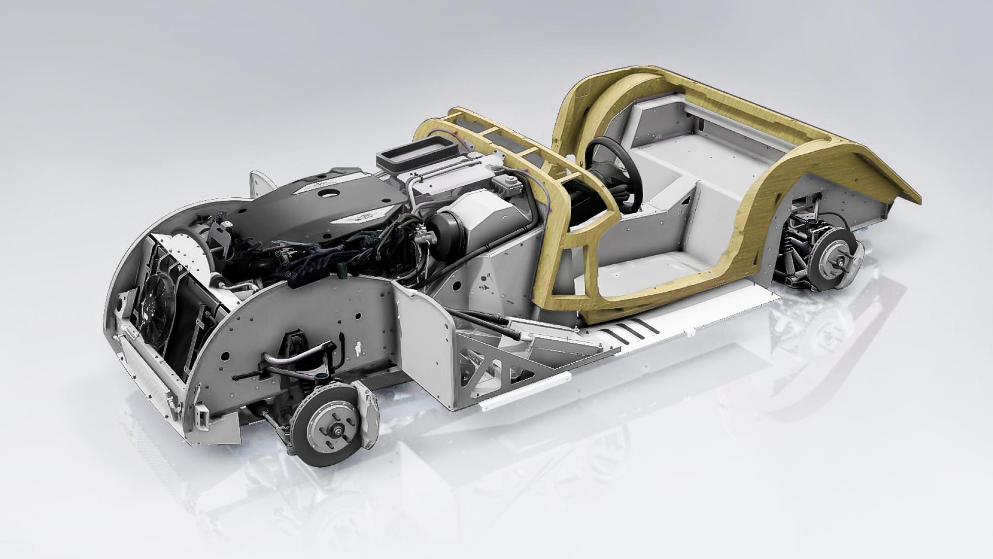 Morgan Plus Six wooden chassis