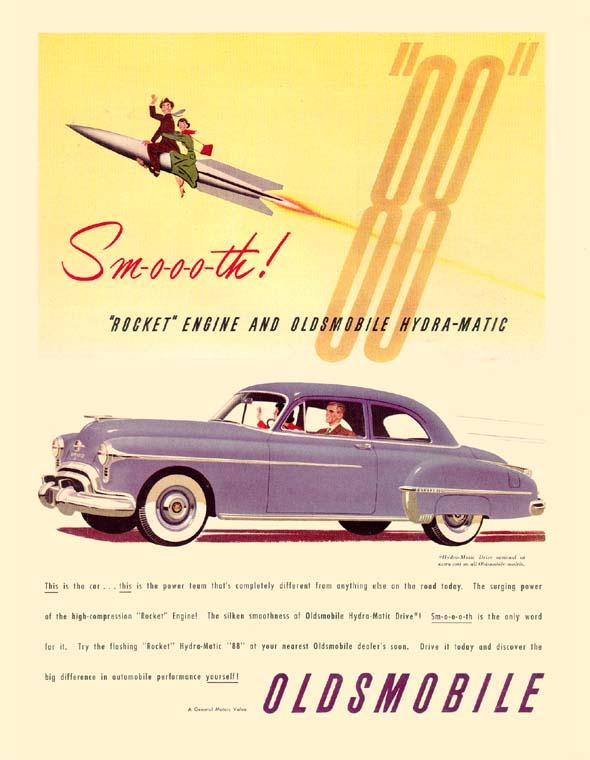 Oldsmobile overhead valve V-8 engine advertisement