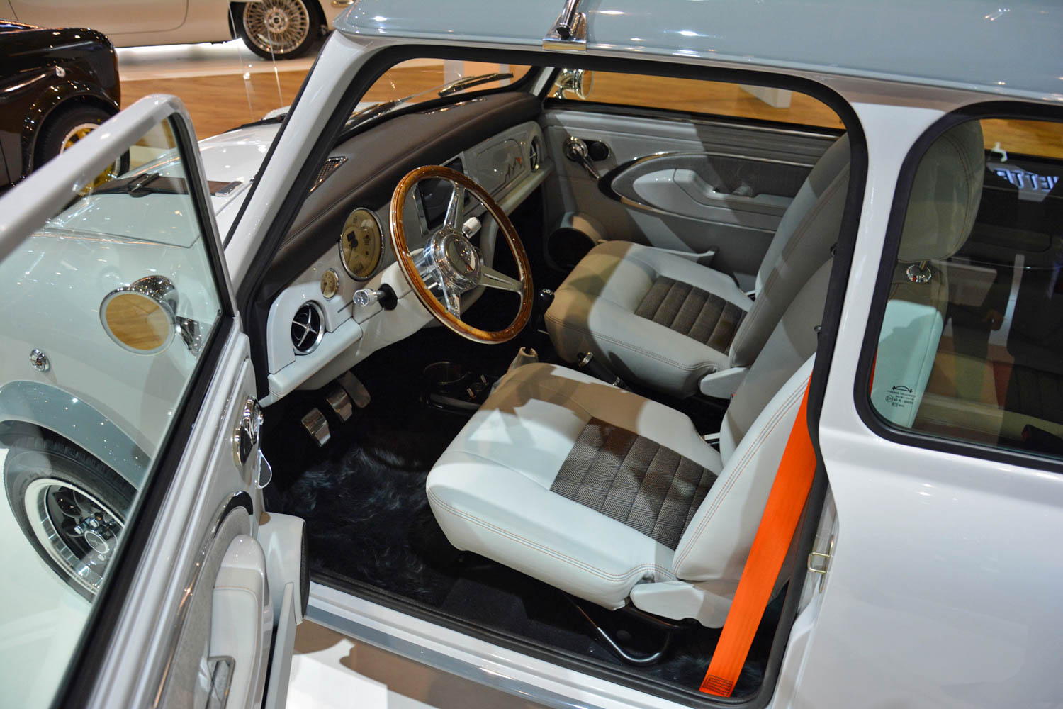 David Brown Automotive Mini Remastered interior