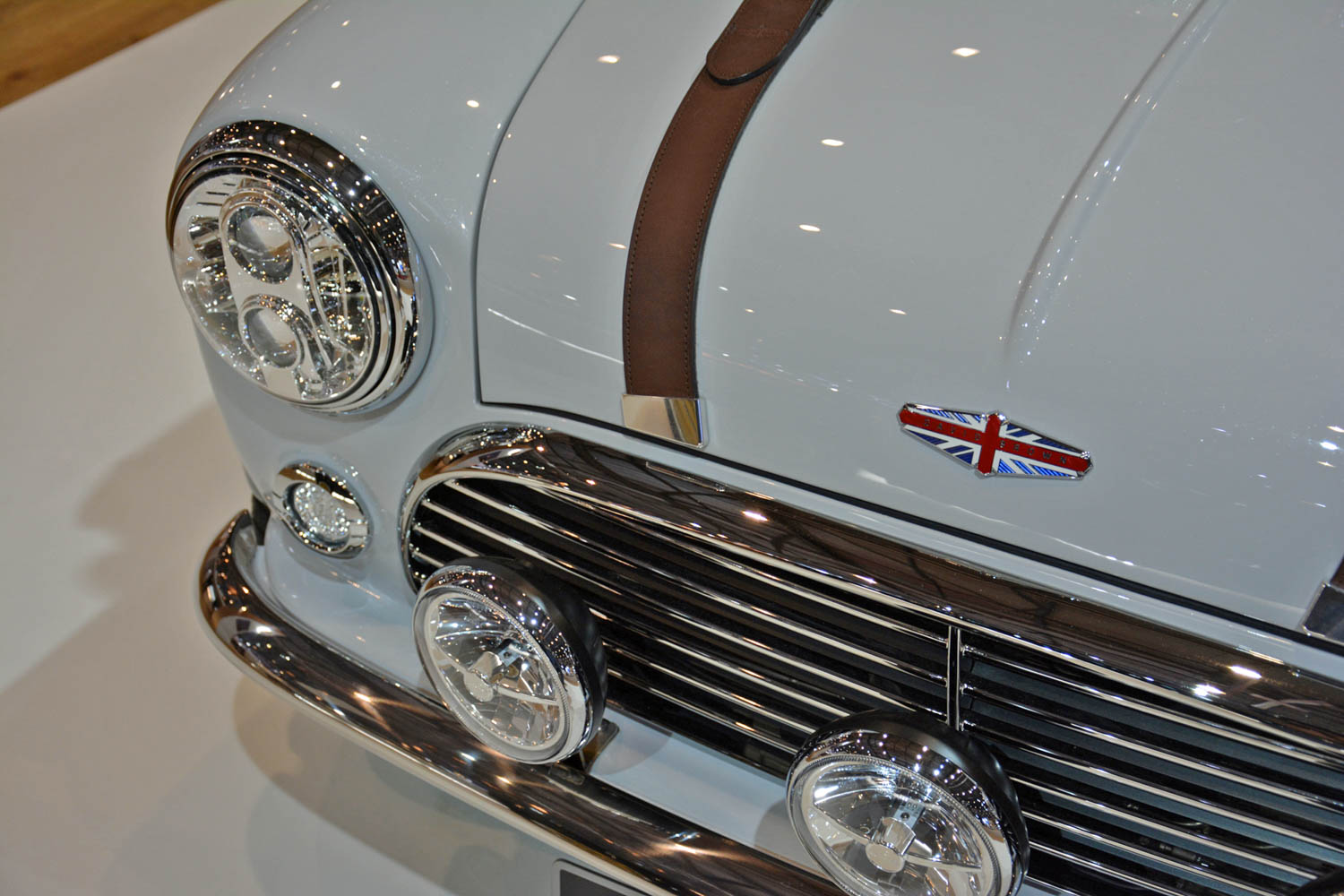 David Brown Automotive Mini Remastered hood detail
