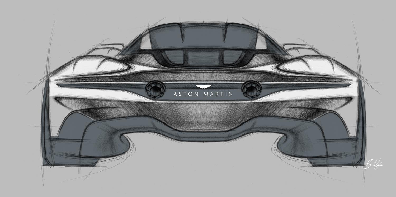 Aston Martin Vanquish Vision Concept rear sketch
