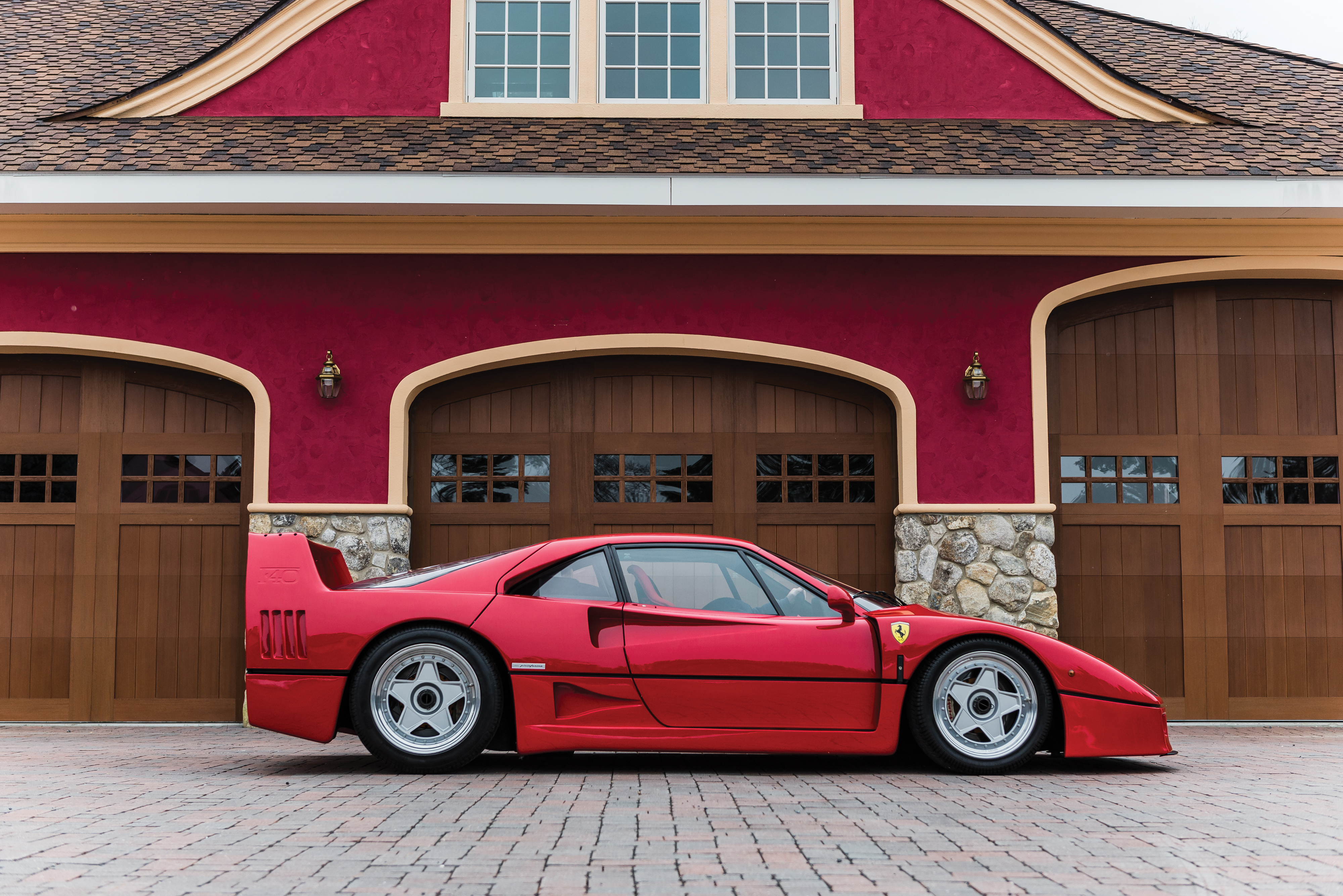red side profile Ferrari F40 RM Sothebys amelia island 2019