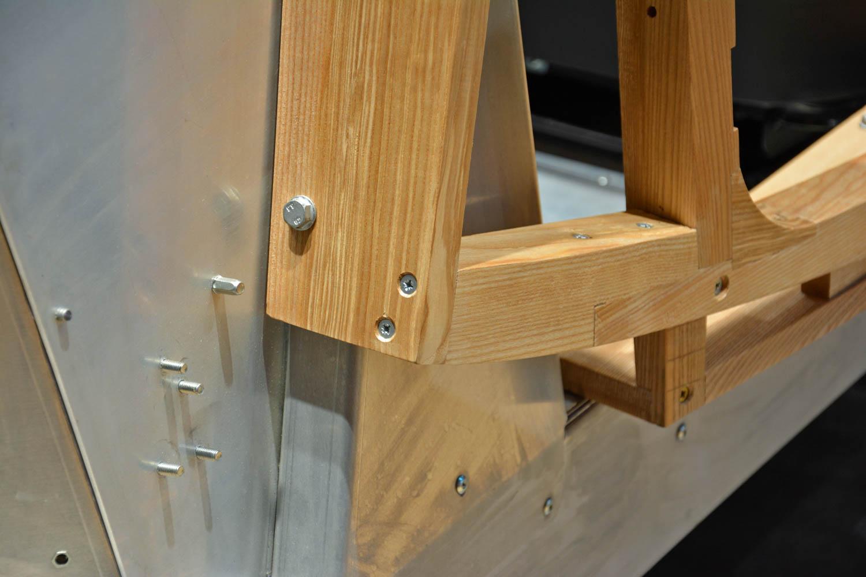 wooden and metal Morgan CX Platform