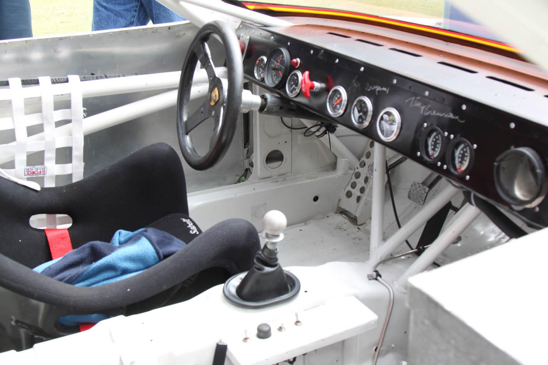 Porsche 924 race car interior