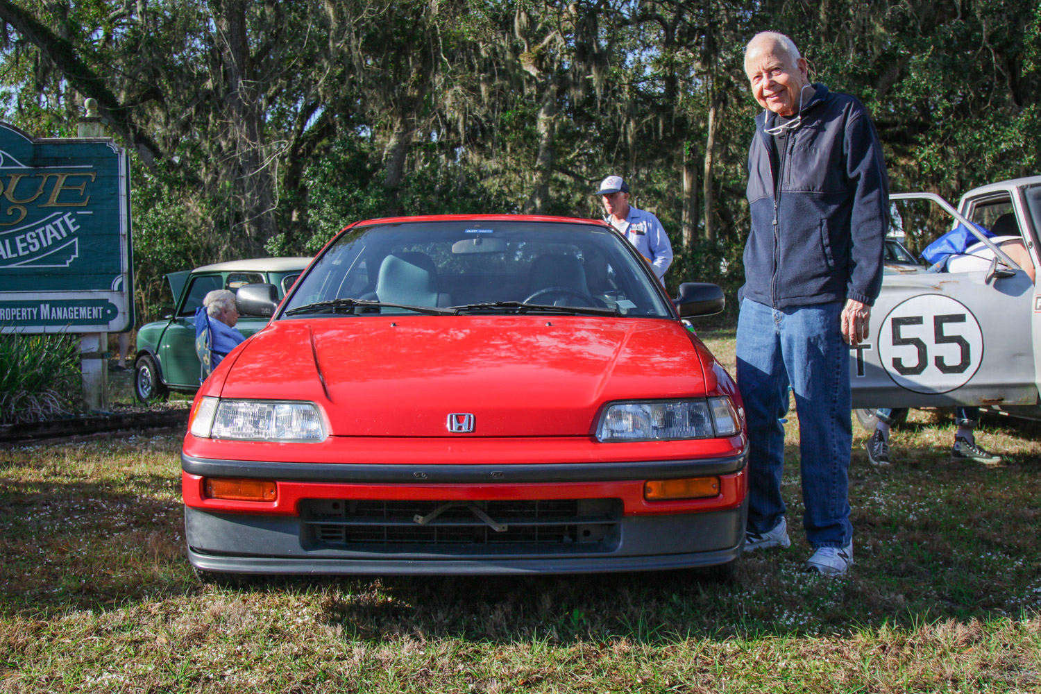 1988 Honda CRX SI front with owner