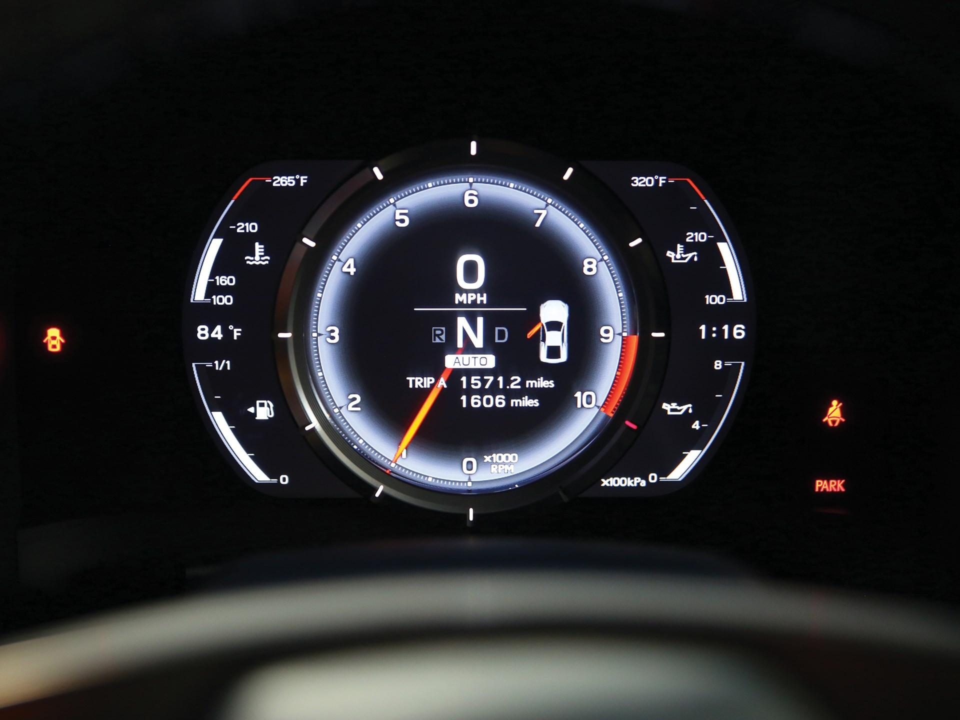 2012 Lexus LFA Nürburgring Package gauges