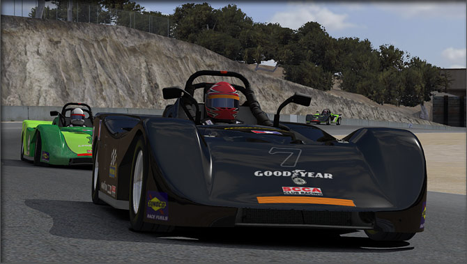 iRacing low 3/4 front