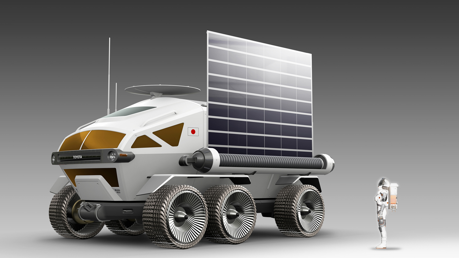 Toyota Pressurized Moon Rover concept rendering side