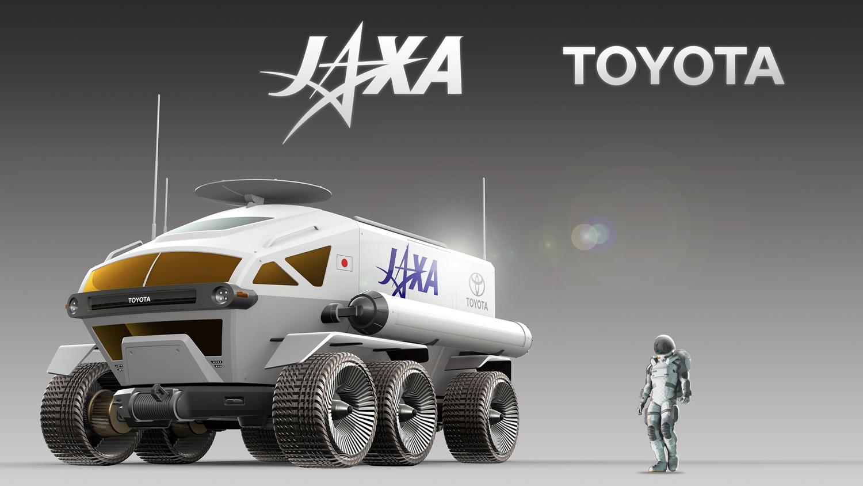 Toyota Pressurized Moon Rover concept 3/4 front jaxa