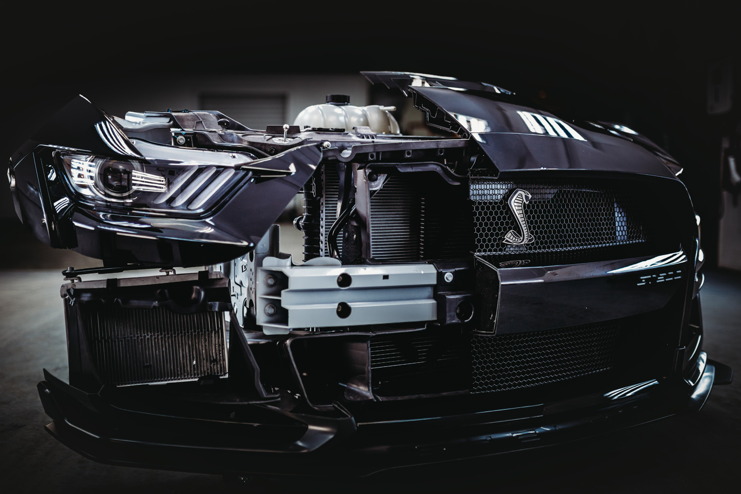 2020 Ford Mustang Shelby GT500 front clip cutaway