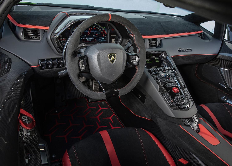2019 Lamborghini Aventador SVJ 3/4 front on track