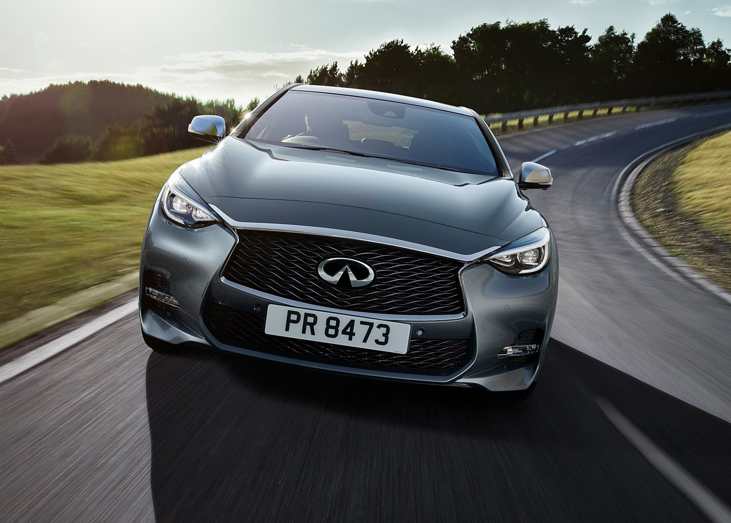 2017 Infinity QX30 front end on road