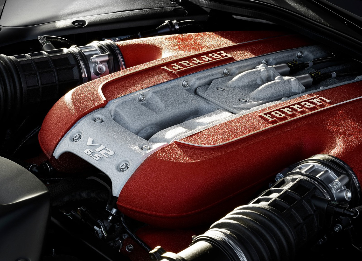 2018 Ferrari 812 Superfast engine close